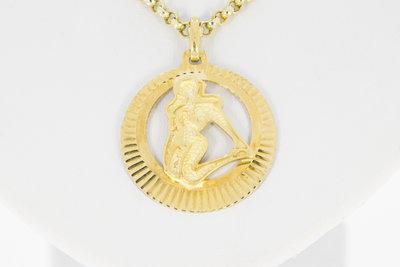 14 K gouden hanger sterrenbeeld Maagd
