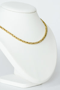 14 Karaat gouden -Byzantijns- Koningsketting- 45,5 cm