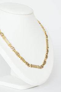 14 Karaat bicolor gouden Rolex schakelketting - 72 cm