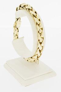 14 Karaat geelgouden Vossenstaart schakelarmband - 22 cm