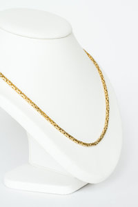 14 Karaat gouden Koningsketting -byzantijns vierkant- 53,5 cm