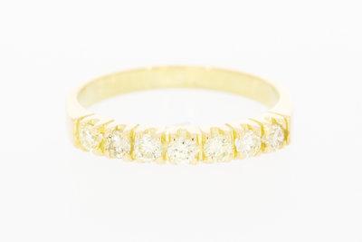 14 K gouden Rijring met Diamant