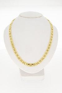 14 Karaat gouden platte Koningsketting - 50 cm