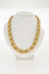 Gouden platte koningsketting -80 cm