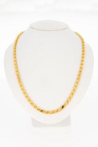 18 Karaat rose gouden schakelketting - 67,5 cm