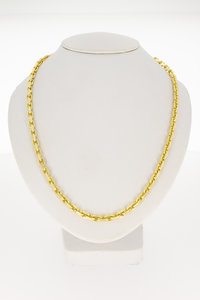 14k geel gouden Anker ketting - 50 cm