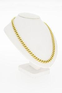 14K gouden Gourmet schakelketting - 54 cm