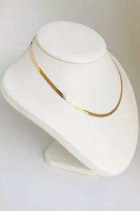 14K gouden gewalste en geslepen Gourmet Collier- 42 cm