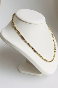 Gouden Monte Carlo Koningsketting- 63 cm
