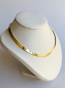14 karaat geel gouden Omega schakel Collier - 43 cm