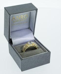 14 karaat gouden Statement ring -Rolex style- met Zirkonia