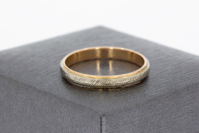 Bicolor gouden (aanschuif) ring