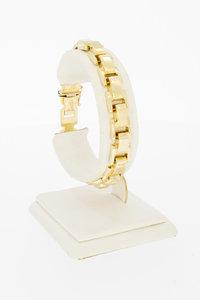 14 karaat geel gouden Plaatjes schakelarmband - 19 cm