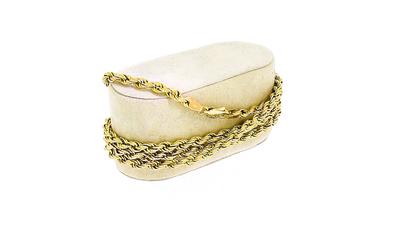 14 karaat geelgouden Koord schakelketting - 82 cm
