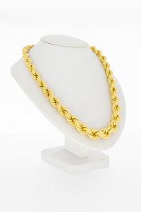 """18 karaat geel gouden """"oplopend"""" Koord Collier- 45 cm"""