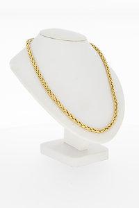 14 karaat geel gouden Vossenstaart schakel collier - 48 cm