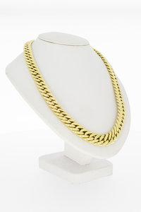 14 karaat geel gouden Gourmet schakel Collier - 43 cm