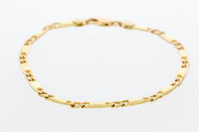 Geel gouden schakel ketting - 20,5 cm