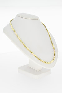 Geel gouden fantasie Collier - 41 cm