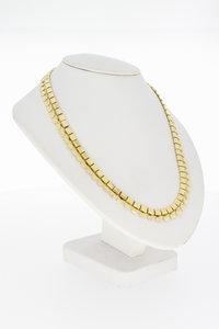 14 karaat geel gouden Zonnestraal plaatjes Collier - 45 cm