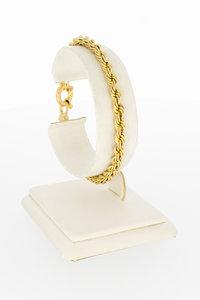 14 Karaat geel gouden Koord schakelarmband - 19 cm