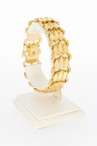 18 karaat rosé gouden schakel armband - 20 cm
