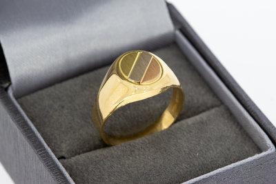 Gouden Zegelring -tricolor- Zegelbed