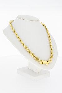"""14 Karaat geel gouden """"oplopende"""" Koord Collier- 44,5 cm"""