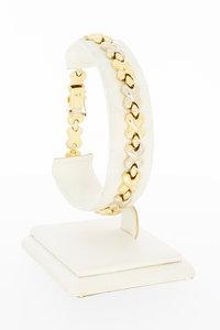 14 karaat bicolor gouden schakelarmband - 20 cm