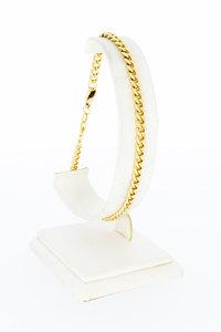 14 karaat gouden gewalste Gourmet armband - 23 cm