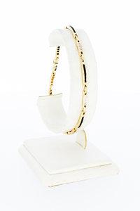 14 Karaat gouden armband met Diamant & Granaten- 20 cm
