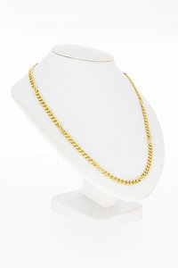 14 Karaat geel gouden gewalste Gourmet Collier - 42 cm