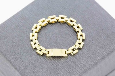 14 karaat geelgouden -Rolex style- flex ring