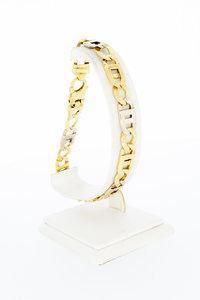 18 karaat bicolor gouden Rolex schakelarmband - 24,3 cm