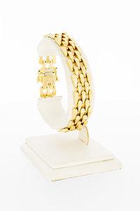 14 karaat geelgouden rupsband schakelarmband - 19 cm