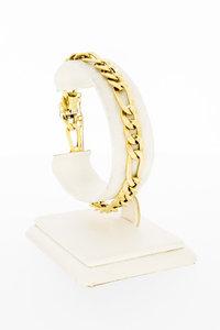 14 karaat geelgouden Figaro schakelarmband - 20,5 cm
