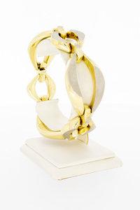 14 karaat gouden grove Fantasie schakelarmband - 20 cm