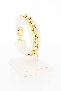 14 karaat geel gouden Staafjes schakelarmband - 18,8 cm
