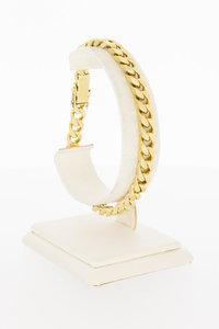 14 Karaat gouden gewalste Gourmet armband - 20 cm