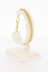 14 Karaat gouden gewalste en geslepen Gourmet armband 20 cm