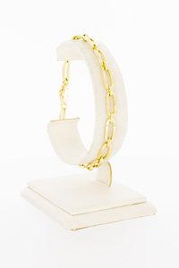 14 Karaat gouden armband met ovale open schakels - 20 cm