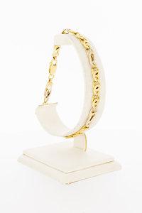 14 Karaat bicolor gouden Valkoog schakelarmband - 21,5 cm
