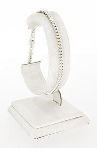 Zilveren (925) geslepen Gourmet schakelarmband - 20 cm
