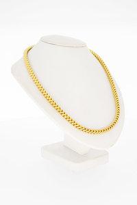 14 Karaat gouden vierkante Gourmet schakel Collier- 45 cm