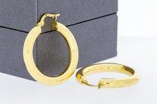 18 Karaat geel gouden Creolen - diameter 27,2 mm