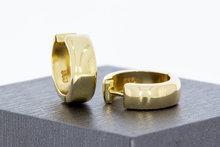 14 Karaat gouden gouden brede Klap Creolen - 14,6 mm
