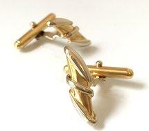 18-Karaat-Bicolor-Gouden-Manchetknopen
