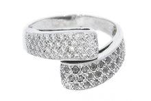 18 Karaat gouden Slagring met Diamant & Markasiet