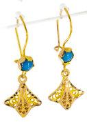14 K Gouden Oorhangers met Turquoise