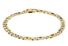 14 K Bicolor Gouden Anker schakel Armband- 20cm